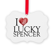 I Heart Lucky Spencer Picture Ornament