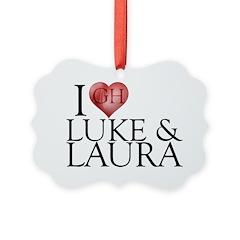 I Heart Luke & Laura Ornament