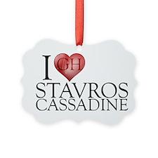 I Heart Stavros Cassadine Picture Ornament