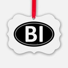 BI Black Euro Oval Ornament