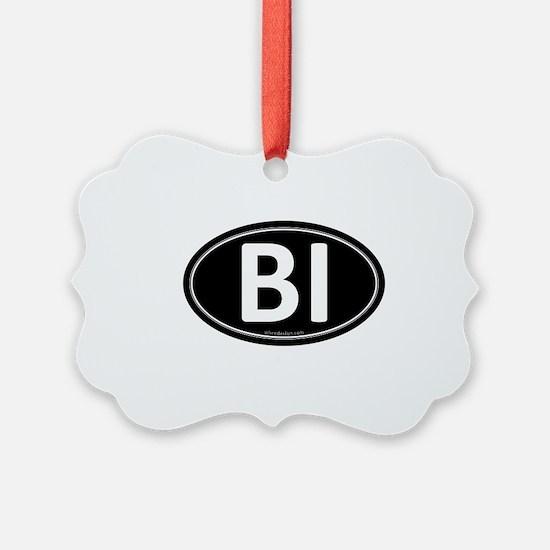 BI Black Euro Oval Ornament