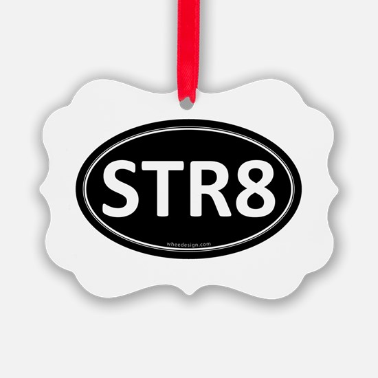 STR8 Black Euro Oval Ornament
