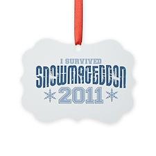 I Survived Snowmageddon 2011 Ornament