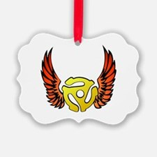 Red Winged 45 RPM Adap Ornament