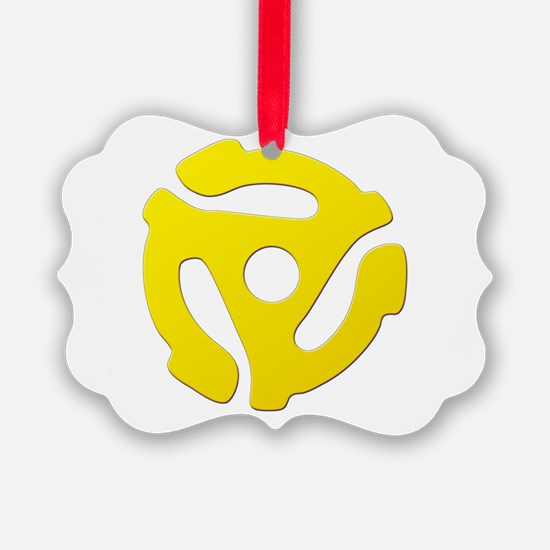 Yellow 45 RPM Adapter Ornament
