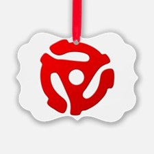 Red 45 RPM Adapter Ornament
