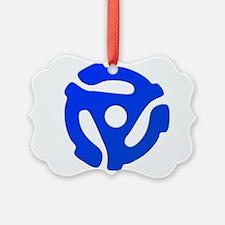 Blue 45 RPM Adapter Ornament