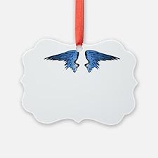 Blue Angel Wings Ornament