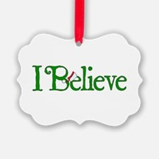 I Believe with Santa Hat Ornament