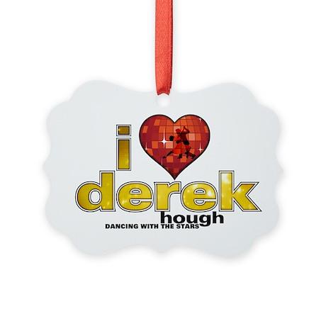 I Heart Derek Hough Picture Ornament