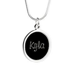 Kyla Spark Silver Round Necklace