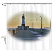 northpierlight.png Shower Curtain