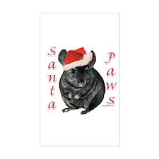 Chin Santa (black tov) Rectangle Decal