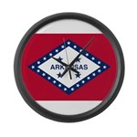 Flag of Arkansas 1923–1924 Large Wall Clock