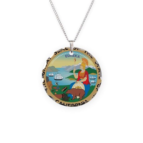Great Seal of California Necklace Circle Charm