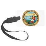 Great Seal of California Large Luggage Tag