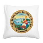Great Seal of California Square Canvas Pillow