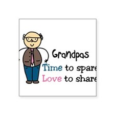 "Grandpas Square Sticker 3"" x 3"""