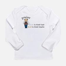 Silver Hair Long Sleeve Infant T-Shirt