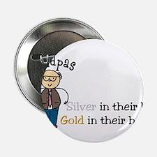 """Silver Hair 2.25"""" Button"""