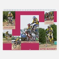 Cute 2007 j c racing bmx calandar Wall Calendar
