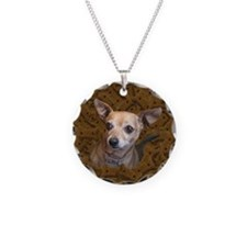 Chihuahua-Dog Necklace Circle Charm