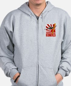 Band of Divers Red Sun Zip Hoodie
