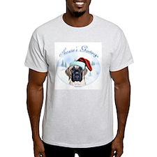 Mastiff Season's Greetings Ash Grey T-Shirt