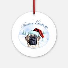Mastiff Season's Greetings Ornament (Round)