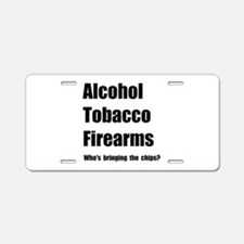ATF Chips Aluminum License Plate