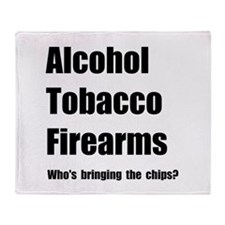 ATF Chips Throw Blanket