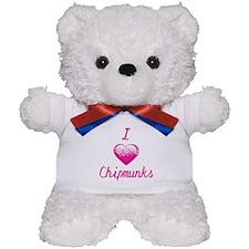 I Love/Heart Chipmunks Teddy Bear