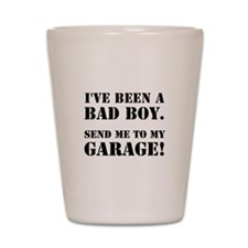 Bad Boy Garage Shot Glass