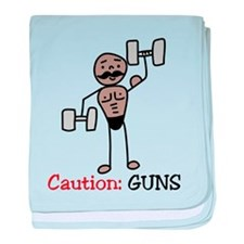 Caution baby blanket