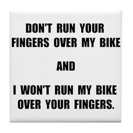 Bike Fingers Tile Coaster