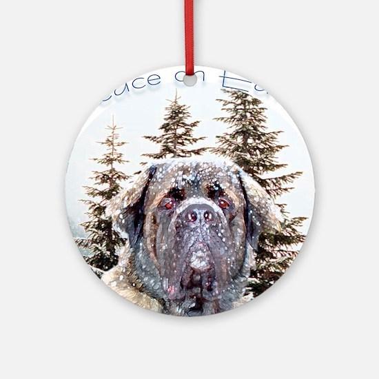 Mastiff Peace Ornament (Round)