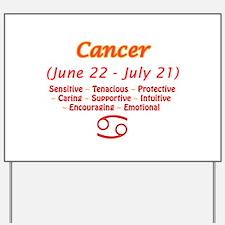 Cancer Description Yard Sign