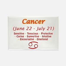 Cancer Description Rectangle Magnet