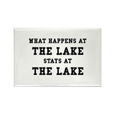 Happens At Lake Rectangle Magnet (10 pack)