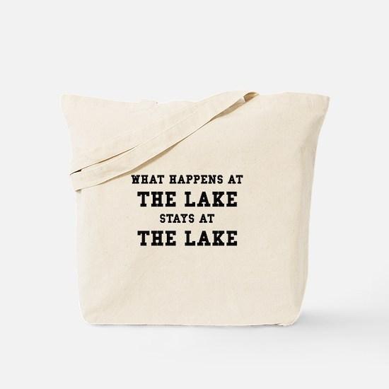 Happens At Lake Tote Bag