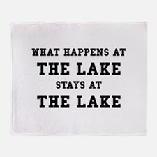 Happens At Lake Throw Blanket