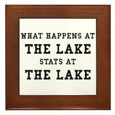 Happens At Lake Framed Tile