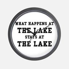 Happens At Lake Wall Clock