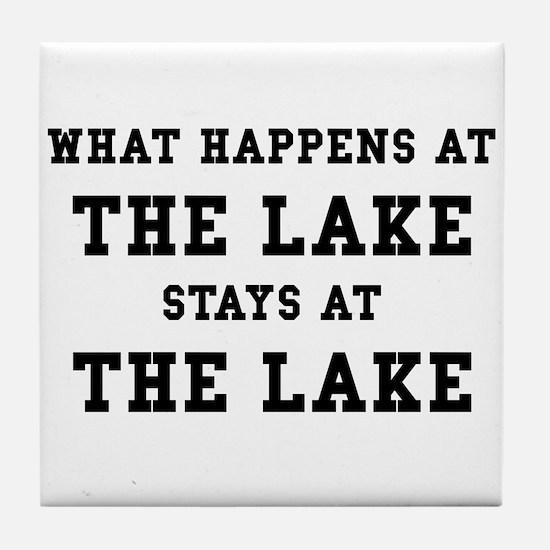 Happens At Lake Tile Coaster