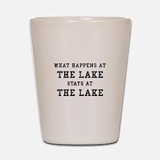 Happens At Lake Shot Glass