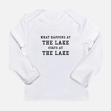 Happens At Lake Long Sleeve Infant T-Shirt