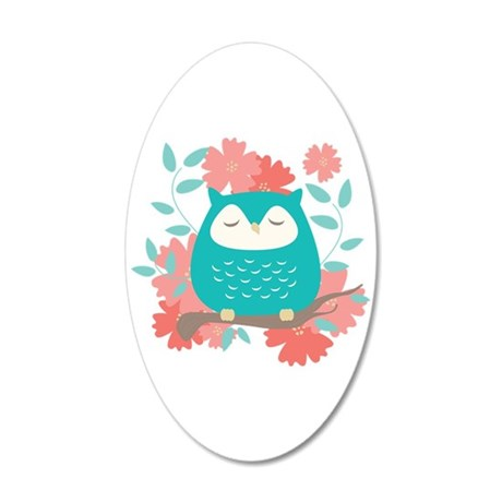 Sweet Owl 35x21 Oval Wall Decal