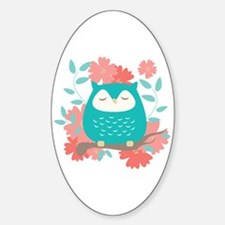 Sweet Owl Sticker (Oval)