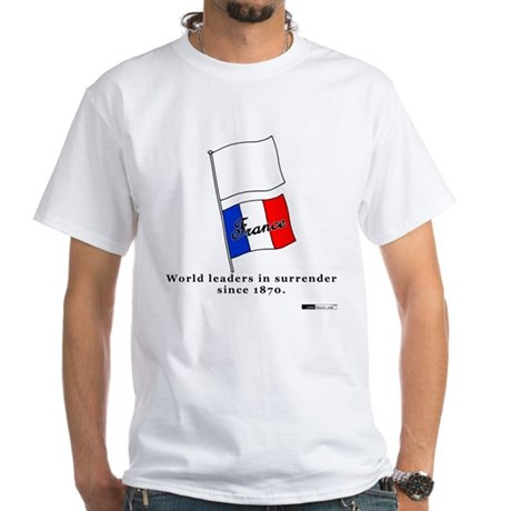 France - World Leaders in Sur White T-Shirt