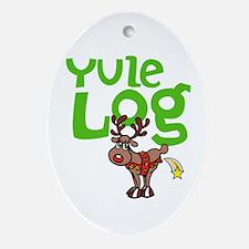 Yule Log Ornament (Oval)